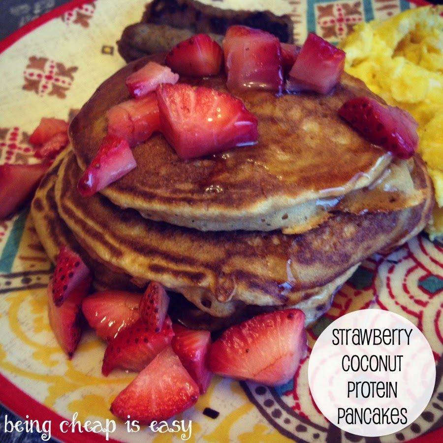 Use Stonyfield Organic Protein for Strawberry Protein Pancakes!