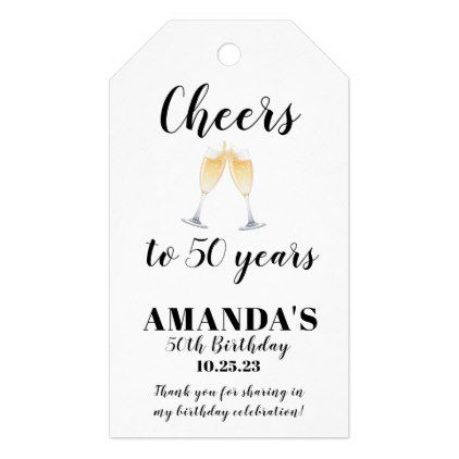 Cheers 50th Birthday Favor