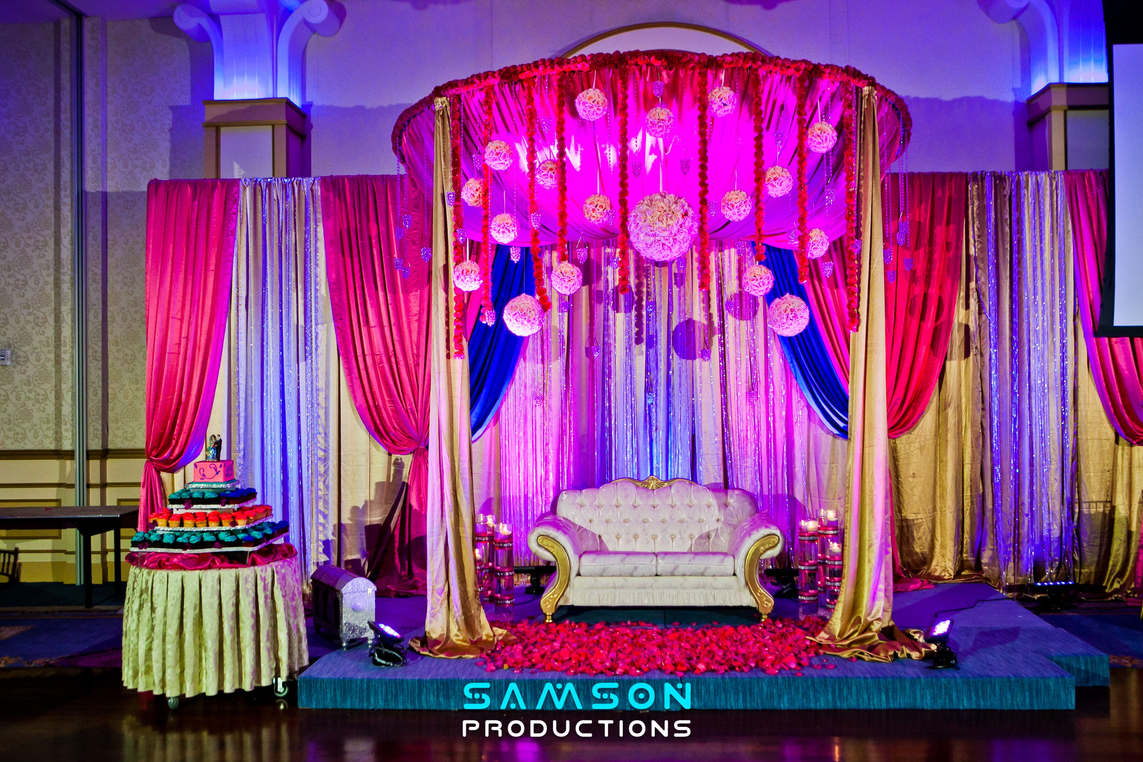 Decor for an Indian Wedding that took place at wedding venue The ...