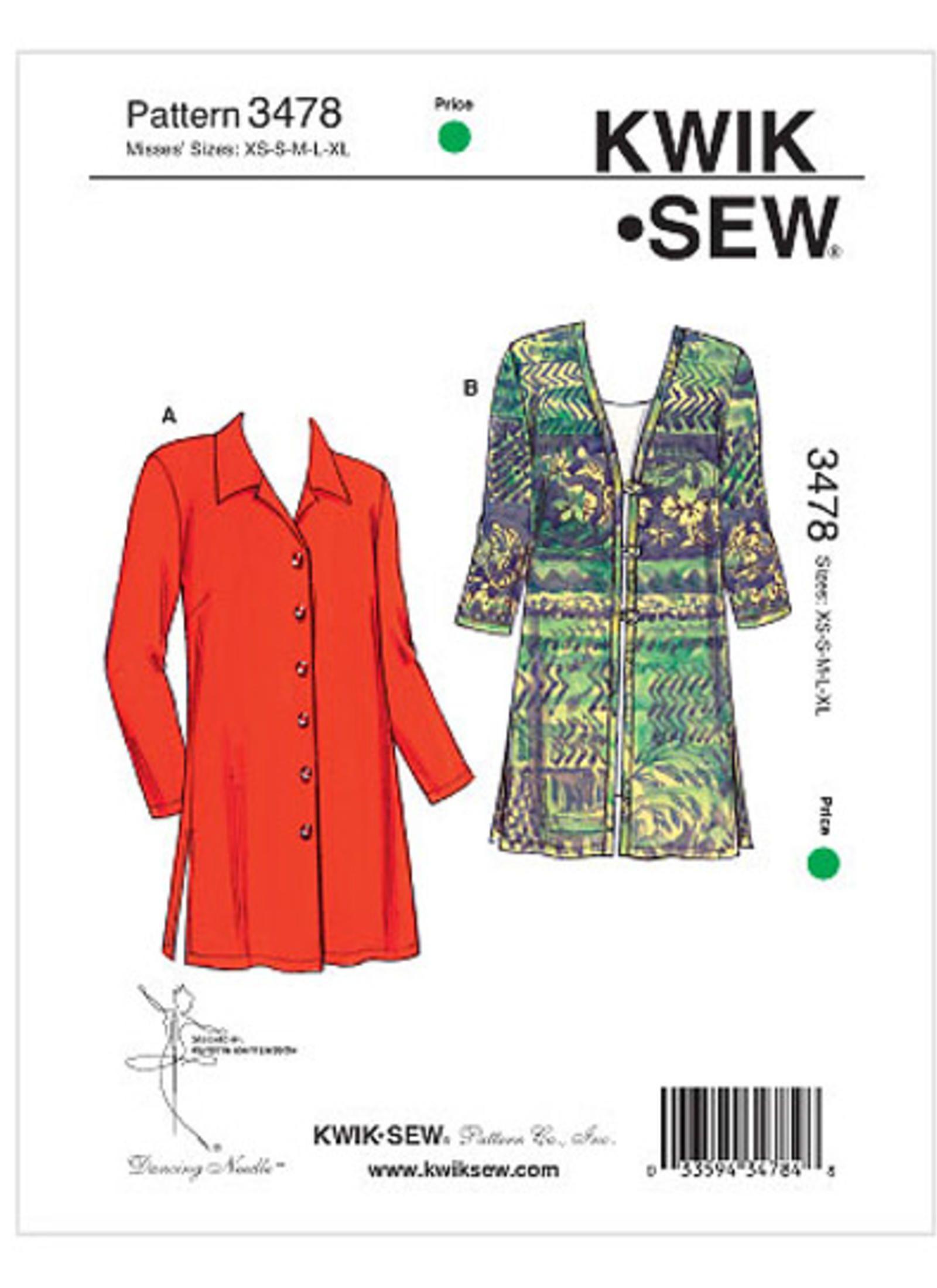 K3478 | Kwik Sew Patterns | Sewing Patterns | sewing | Pinterest