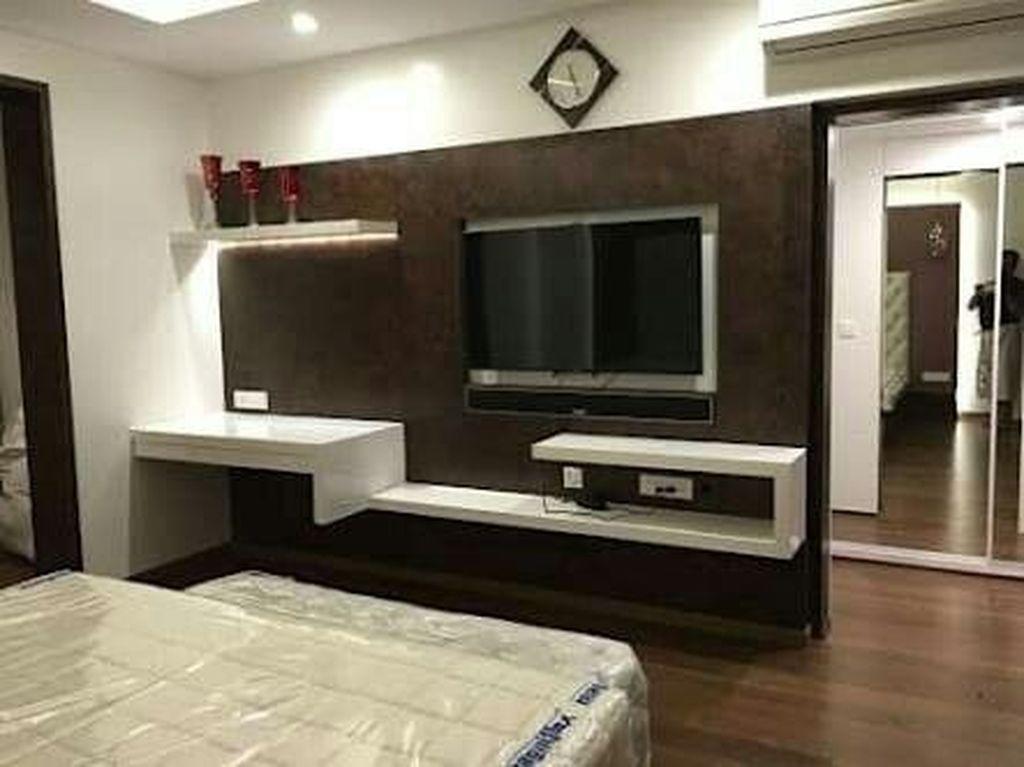 Pin By Mel On Diy Bedroom Tv Wall Tv In Bedroom Tv Wall Design