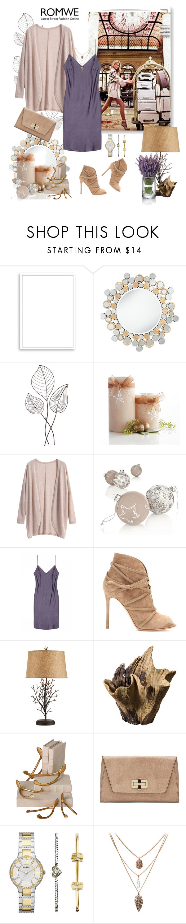 """""""Slip Dress"""" by murenochek ❤ liked on Polyvore featuring Bomedo, Universal Lighting and Decor, Pier 1 Imports, Gianvito Rossi, Global Views, Diane Von Furstenberg, FOSSIL, women's clothing, women's fashion and women"""
