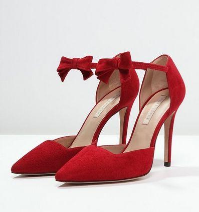 Czerwone Szpilki Z Kokarda Pura Lopez Czolenka Cherry Fashyou Pl Heels Shoes Sling Backs