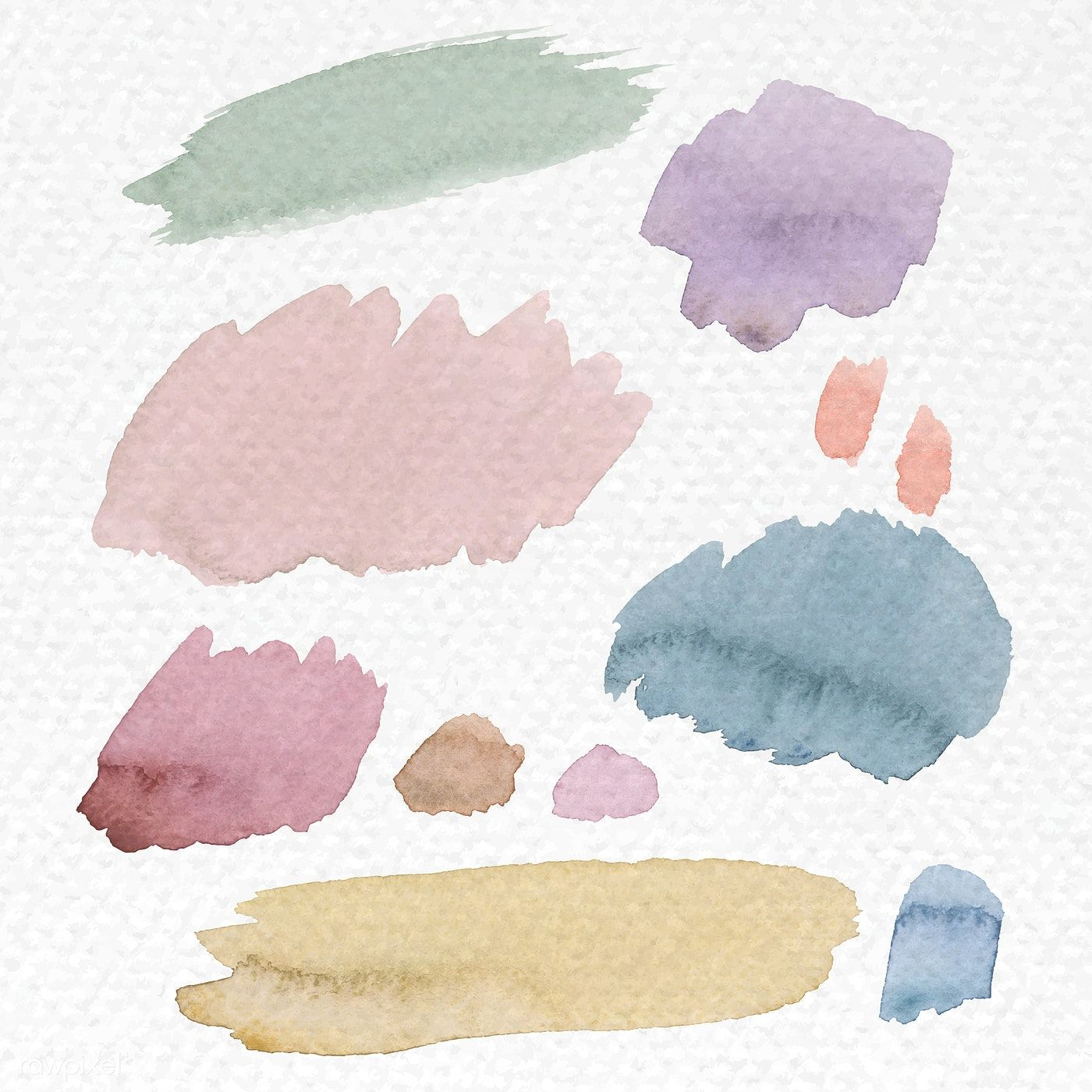 Colorful Watercolor Brush Strokes Background Vector Free Image