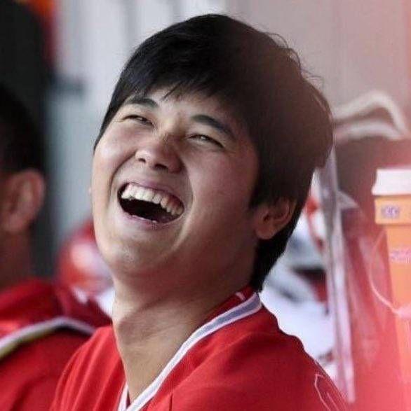 笑顔が素敵な大谷翔平