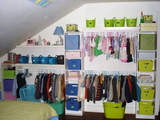 Organizing Kids Clothes Without A Closet