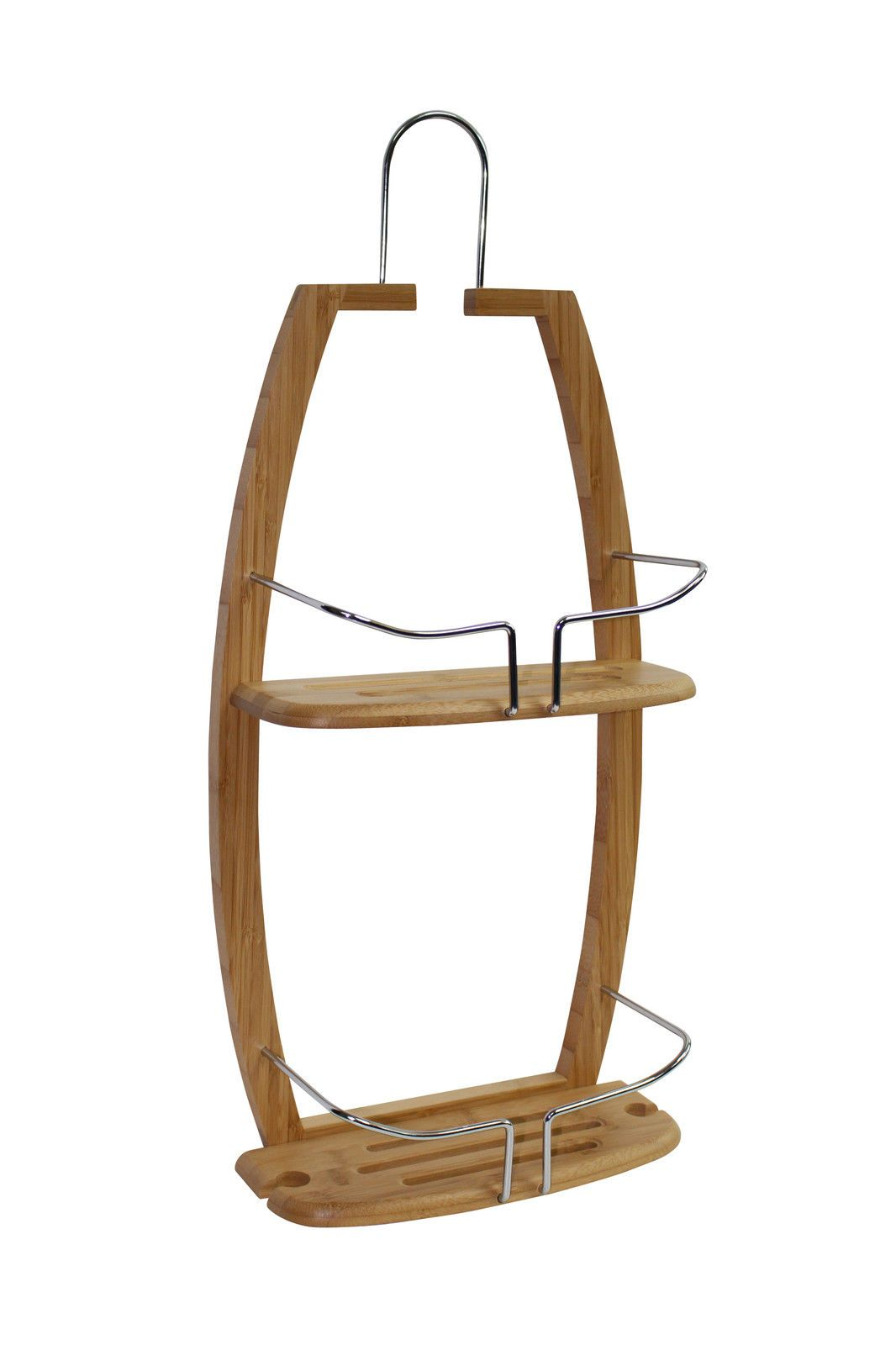 Bamboo 2 tier hanging shower #caddy #storage basket organiser ...