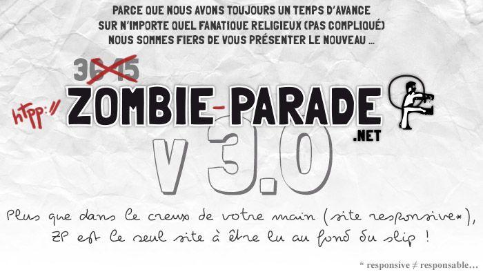 Zombie-Parade Nouvelle version du site   Zombie Parade