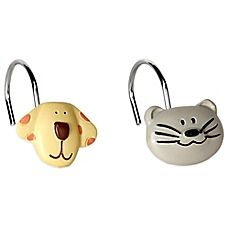 Superior Image Of Raining Cats And Dogs Shower Curtain Hooks (Set Of 12)
