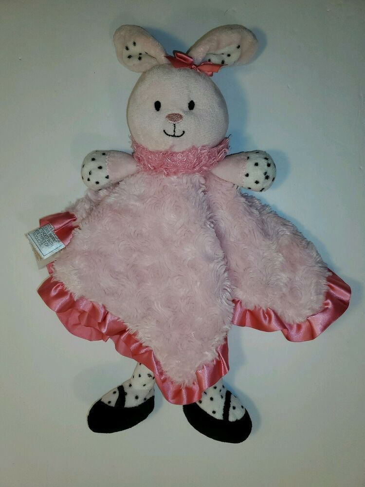 Baby Starters Bunny Rabbit Security Blanket Lovey Rattle Pink Black Polka Dot #BabyStarters #securityblankets Baby Starters Bunny Rabbit Security Blanket Lovey Rattle Pink Black Polka Dot #BabyStarters #securityblankets