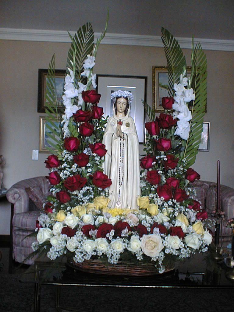 Virgen Flores De Altar Arreglos Florales Y Como Adornar