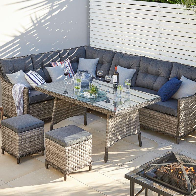 Monaco High Dining Set - Dobbies Garden Centres   garden   Pinterest