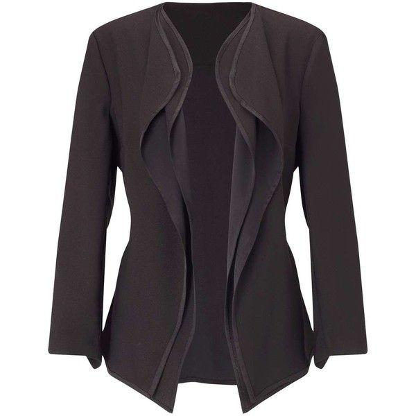 Miss Selfridge Waterfall Jacket Khaki Blazers