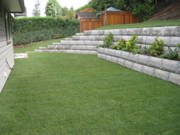 Concrete Blocks Retaining Wall Design Ideas Modern Patio