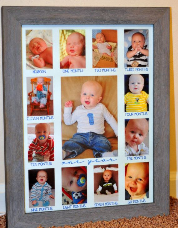 Baby S First Year Photo Mat 12 X 16 One Year 5x7 Baby Girl Scrapbook Baby Boy 1st Birthday Baby Boy Pictures