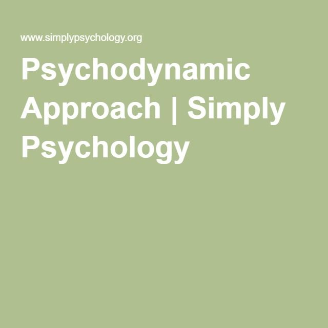 Psychodynamic Approach Simply Psychology Psychodynamic Theory