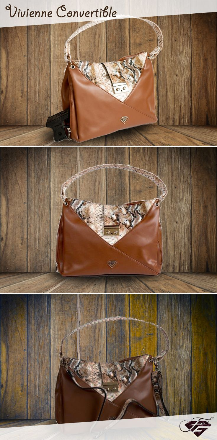 Make statement with soft light brown leather and bold