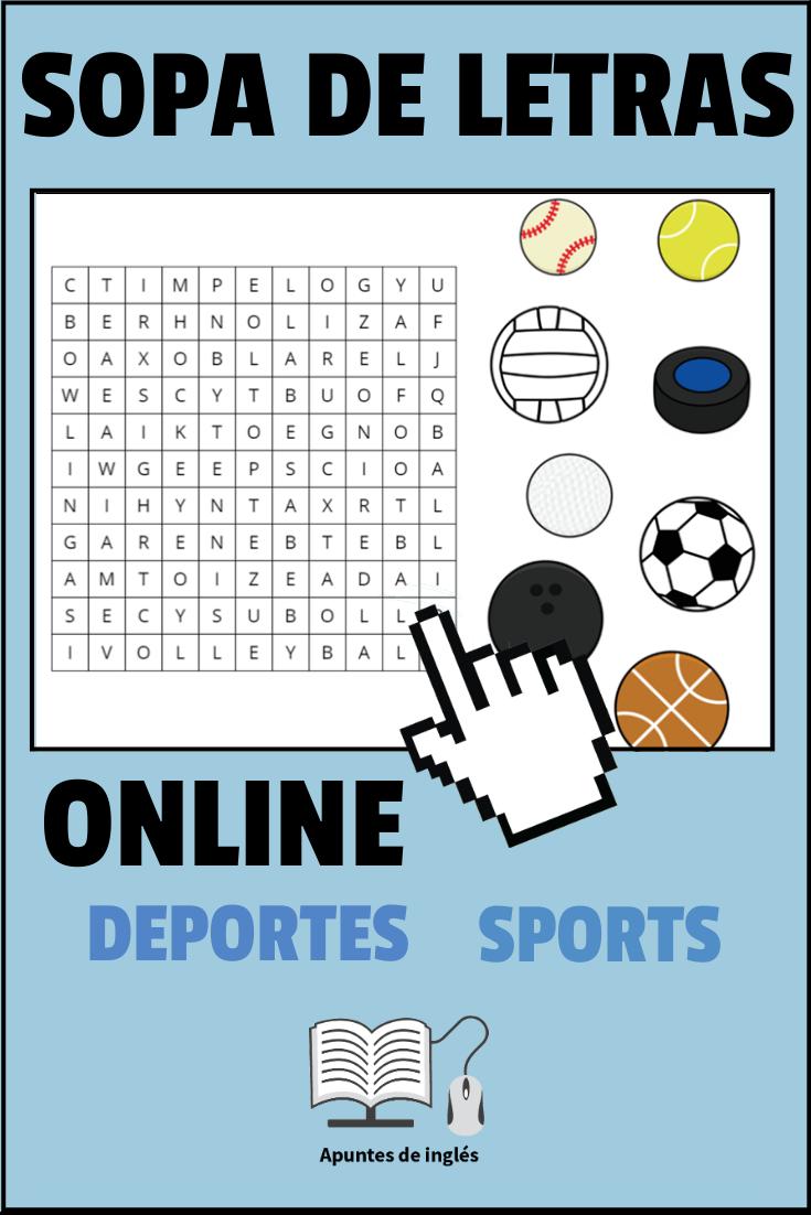 Sopa De Letras Sobre Los Deportes En Ingles Sopa De Letras Deportes En Ingles Letras