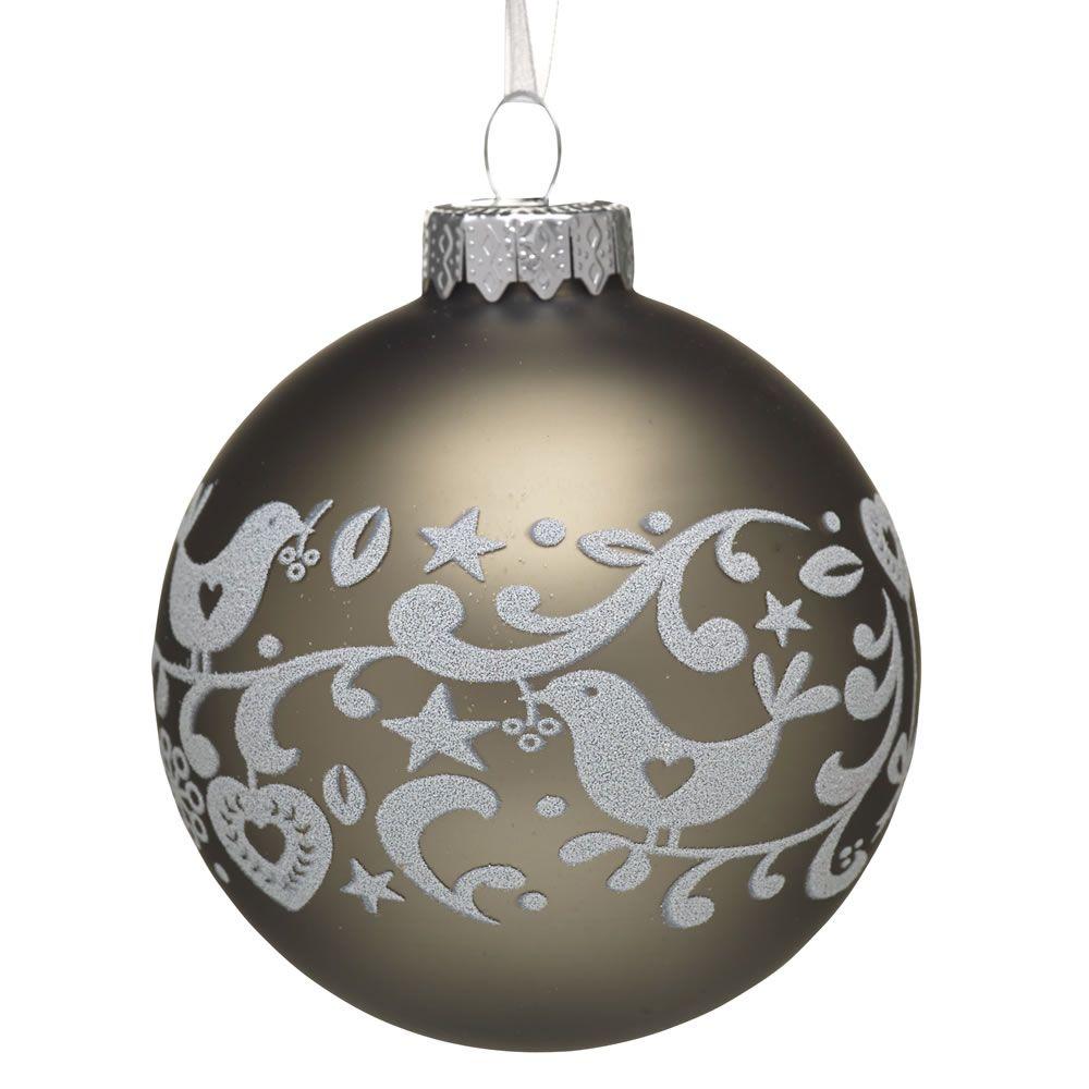 Wilko Berry Bird Bauble Christmas Tree Decoration Glass At Wilko Com Christmas Tree Baubles Christmas Tree Decorations Christmas Bulbs
