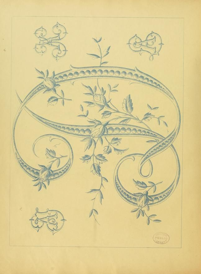 Vintage French embroidery pattern book for lingerie | Embroidery ...