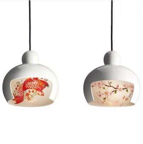 Japanese style geisha hand painted droplight modern led pendant japanese style geisha hand painted droplight modern led pendant light fixtures for dining room hanging aloadofball Images