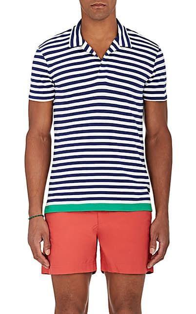 9dba9007 Orlebar Brown Felix Striped Cotton-Linen Polo Shirt - Tops - 505212970