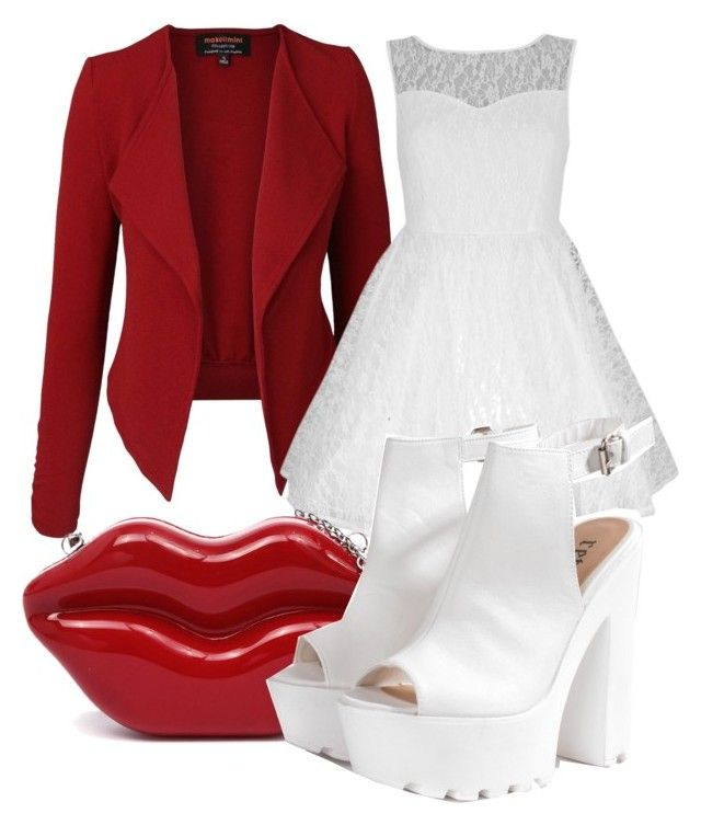 """""""Red and white"""" by styleiconscloset ❤ liked on Polyvore"""