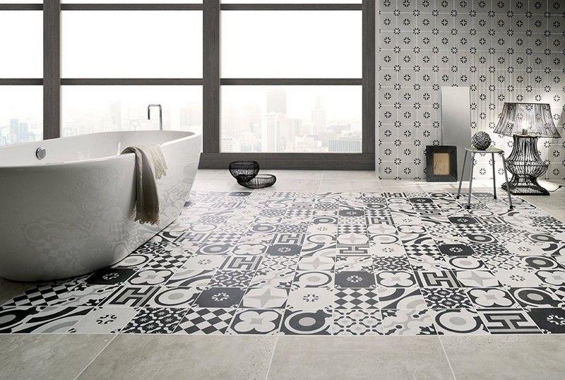 Carrelage salle de bain noir et blanc \u2013 le duo intemporel très