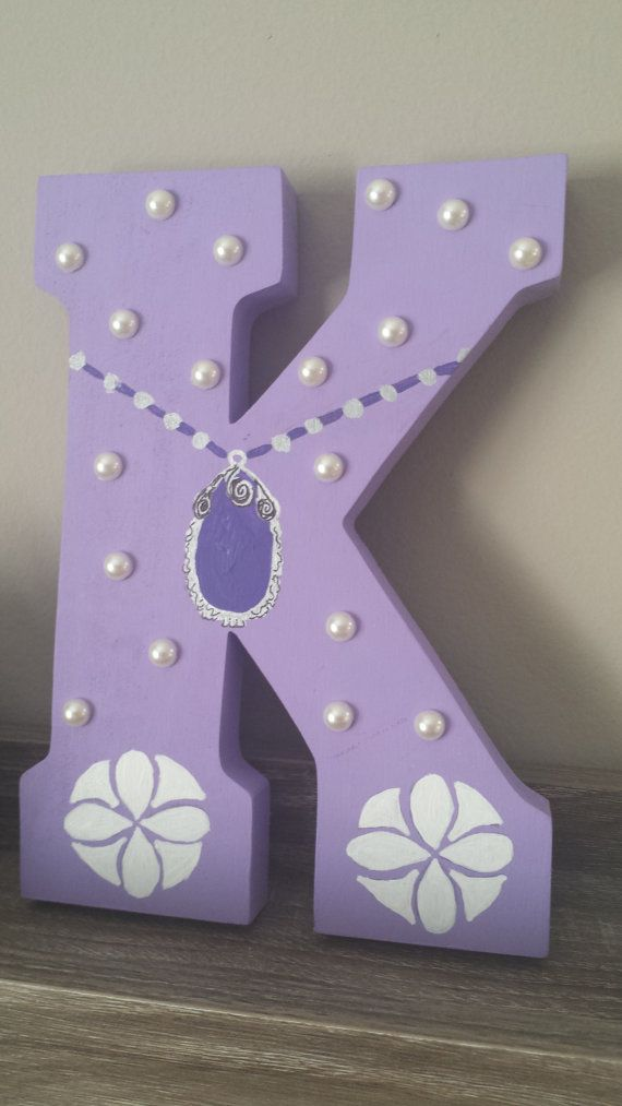 Sophia The First Hand Painted Hand Cut Wood Letter Art Childrens