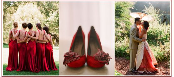 Red Shoes For Wedding Photo Album - Weddings by Denise