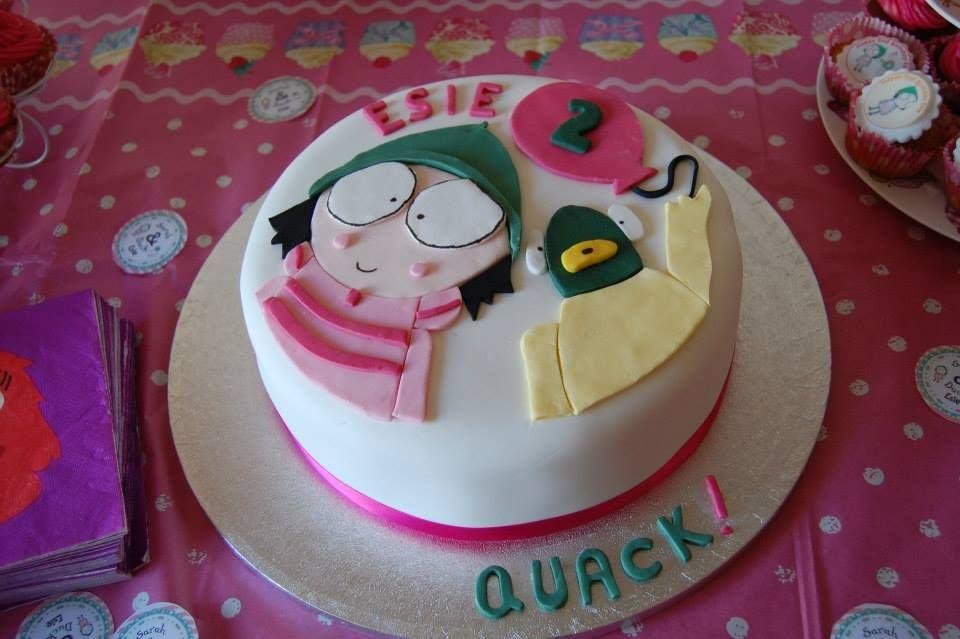 Sarah And Duck Birthday Cake Sarah And Duck Cake Pinterest