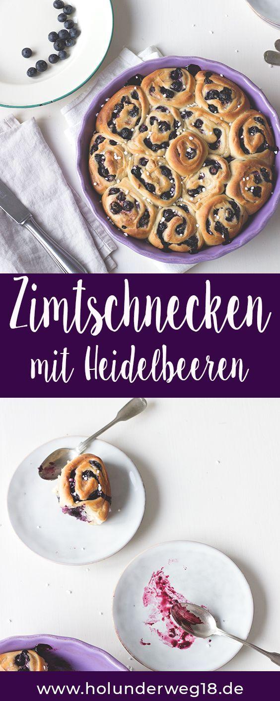 Rezept für Blaubeer-Zimtschnecken - schwedisches Backrezept