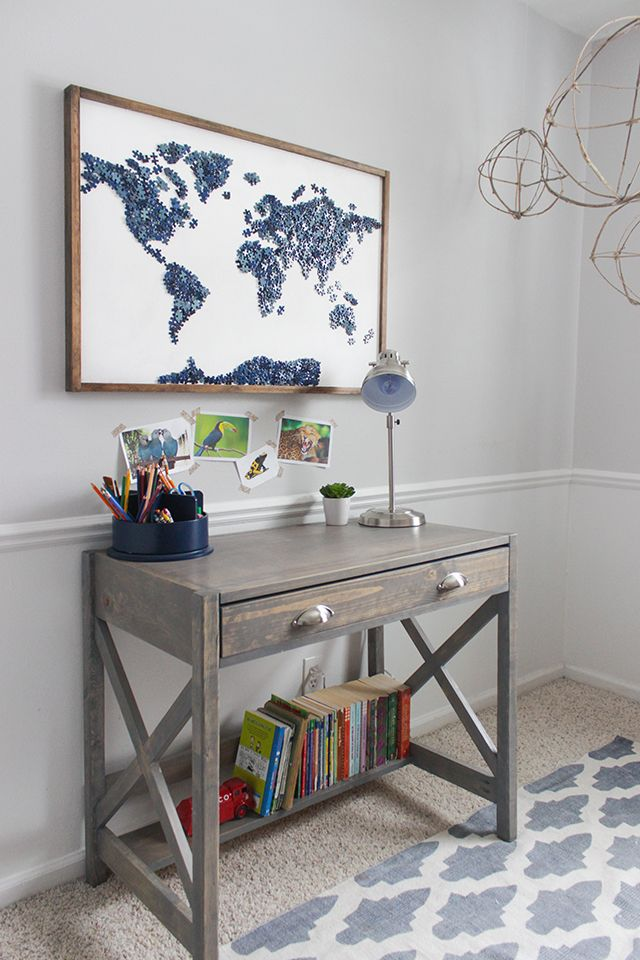 Upcycled Puzzle Art | Outlines, Desks and Walls