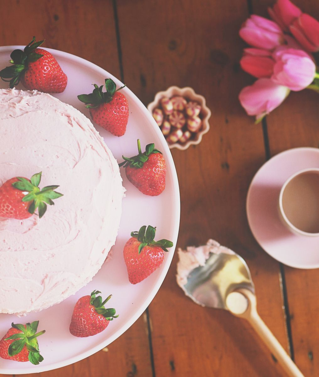 Strawberry Milkshake Cake Recipe Mirandas Notebook f e a s t