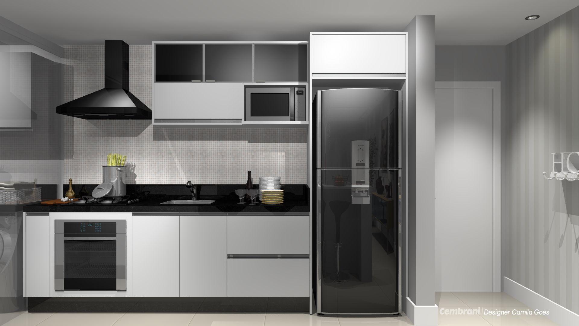 Decor Geladeira Preta Kitchens House Remodeling And House