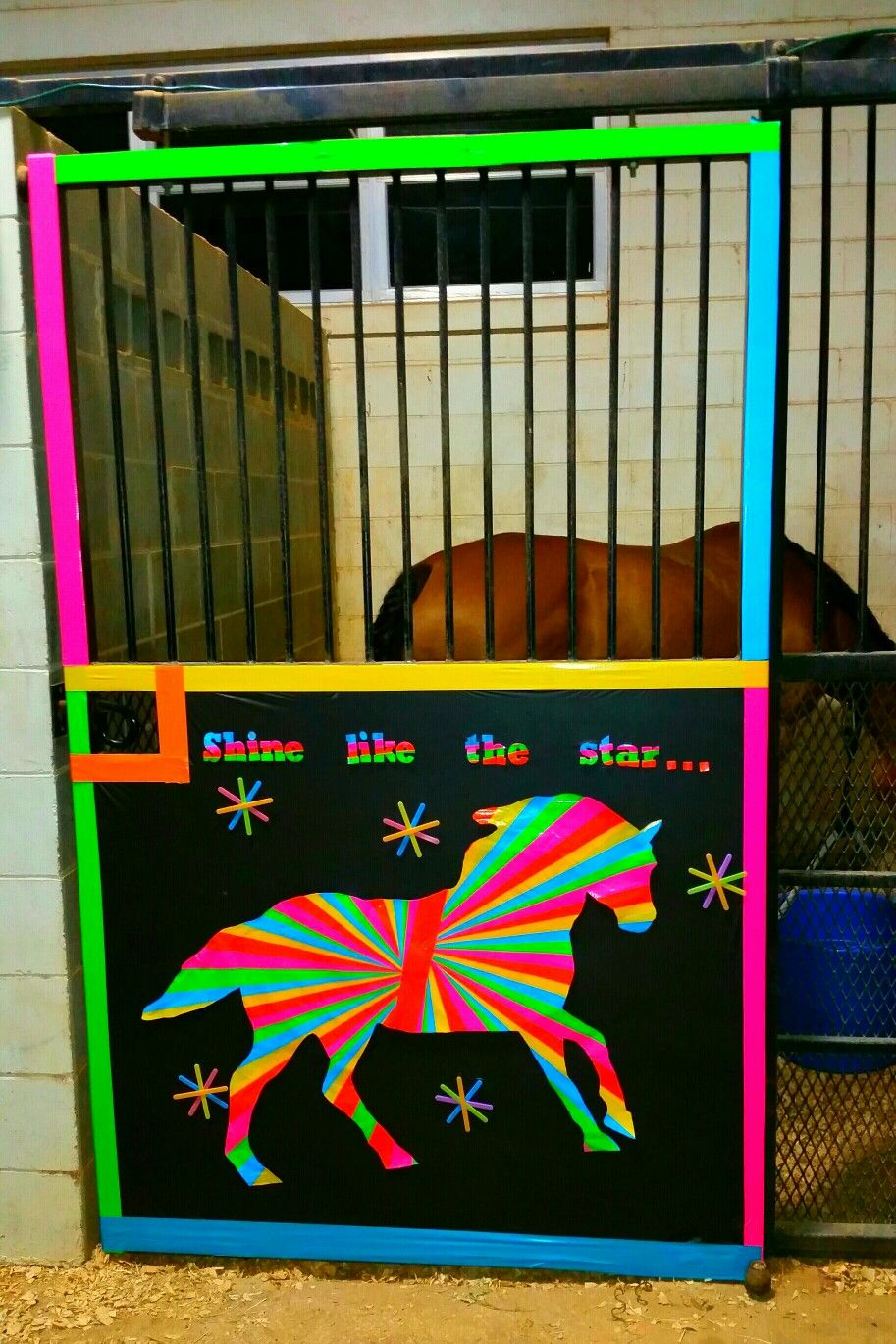 Stall 1 Neon Theme Horse Stall Decorations Stall Decorations