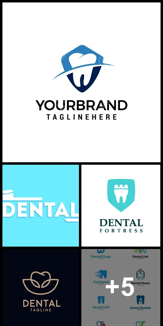 Dental logo template. Dental care symbol icon designs design concept template ... #dentallogo