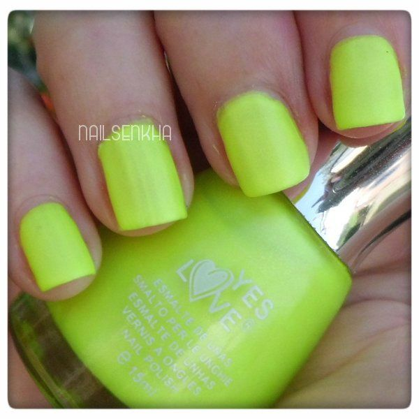 Yes Love Colección Leather G6-3 #yeslove #neon #yellow #nails #notd ...