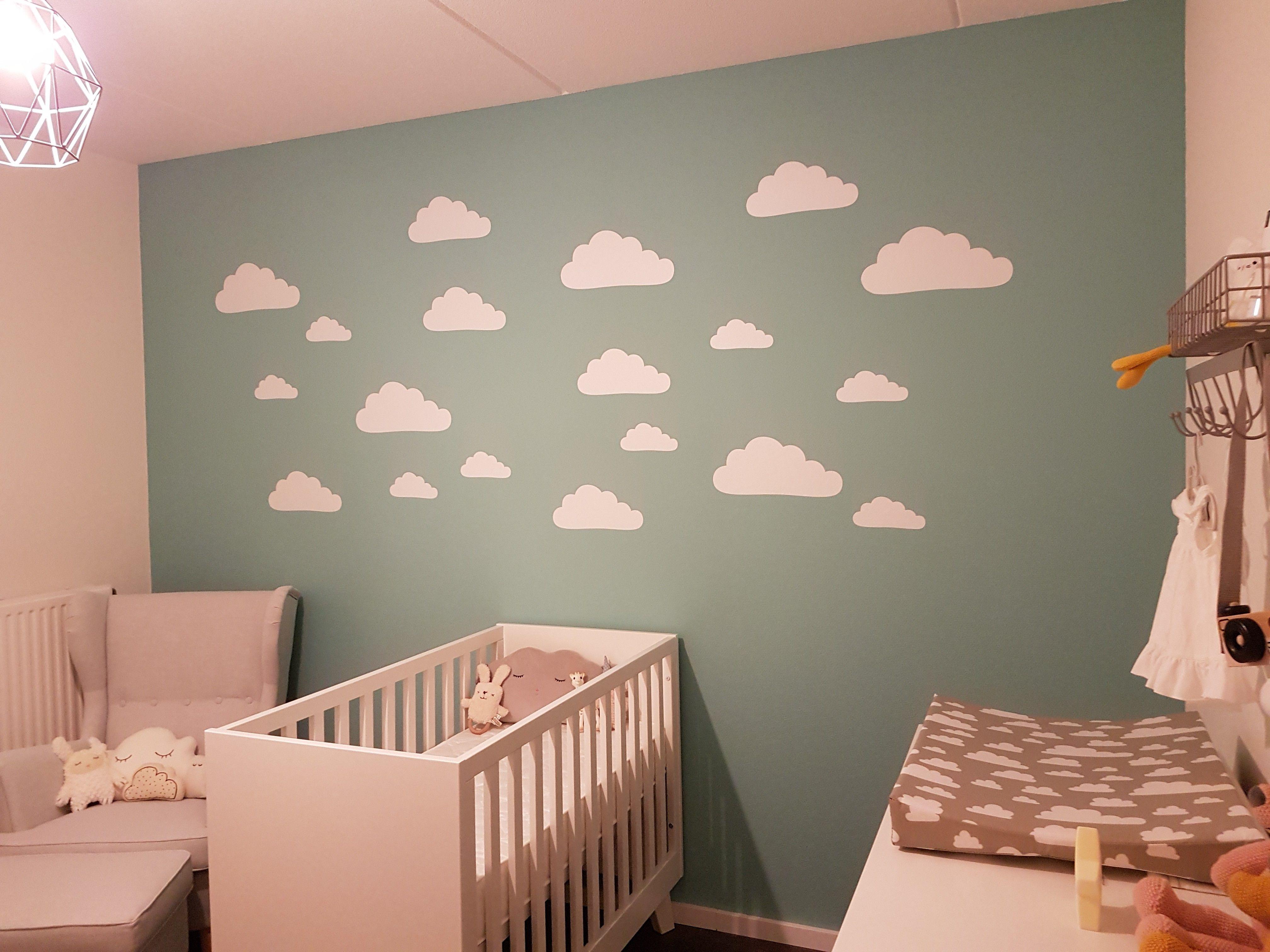 Stickers Op De Muur.Muursticker Wolkjes Voor Babykamer In 2019 Kinderkamer