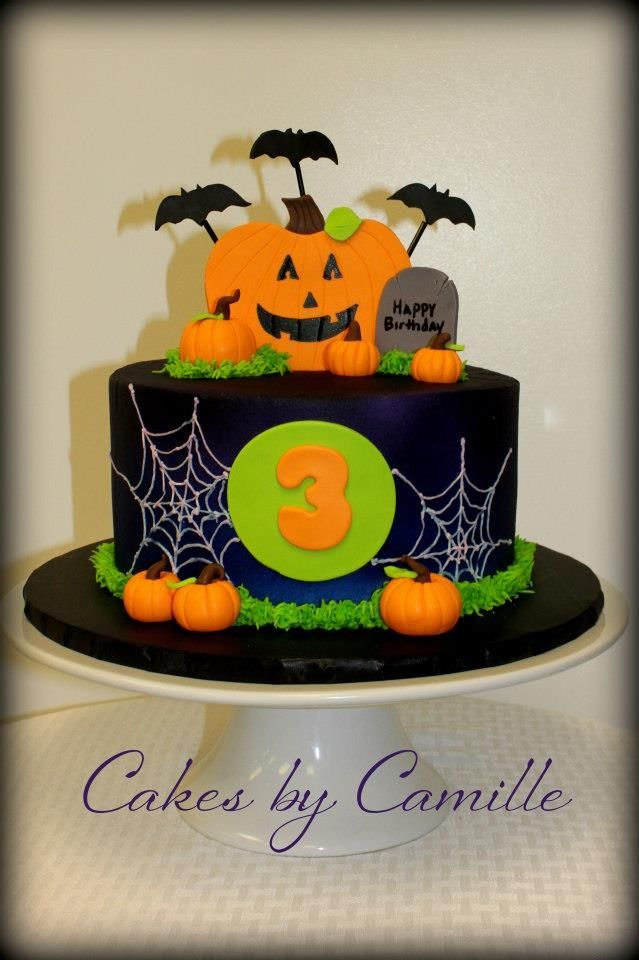 Halloween cake Cakes Pinterest Halloween cakes and Cake - halloween decorated cakes