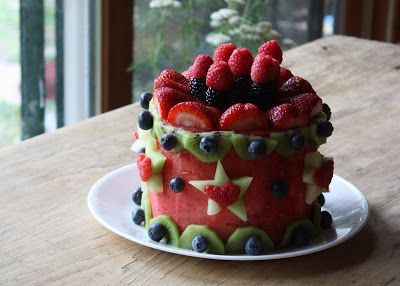 Cake made out of nothing but fruit Fun different amazing Food