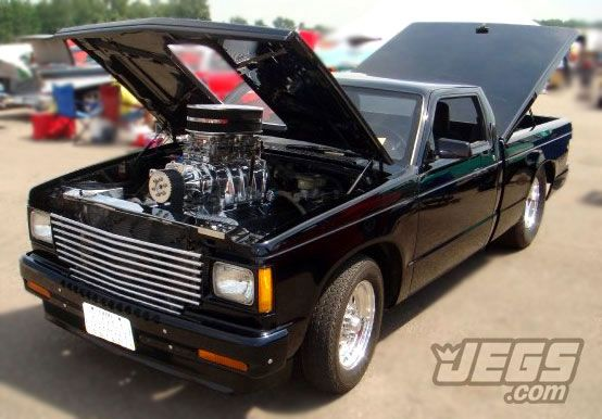 Nice looking Chevy S10 with a Supercharged Big Block and