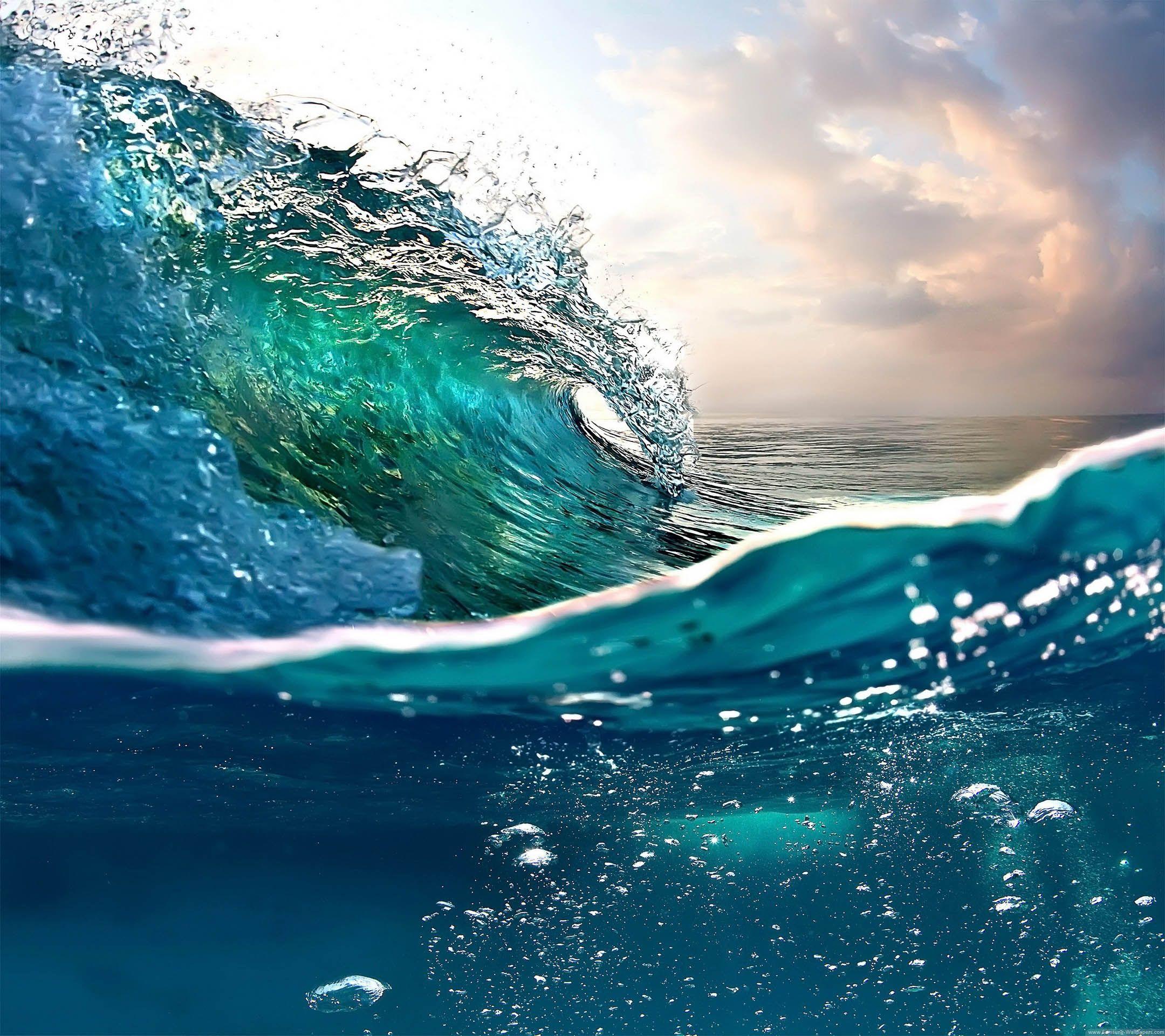 Sea Wave Stock 2160x1920 Samsung Galaxy S4 Wallpaper HD
