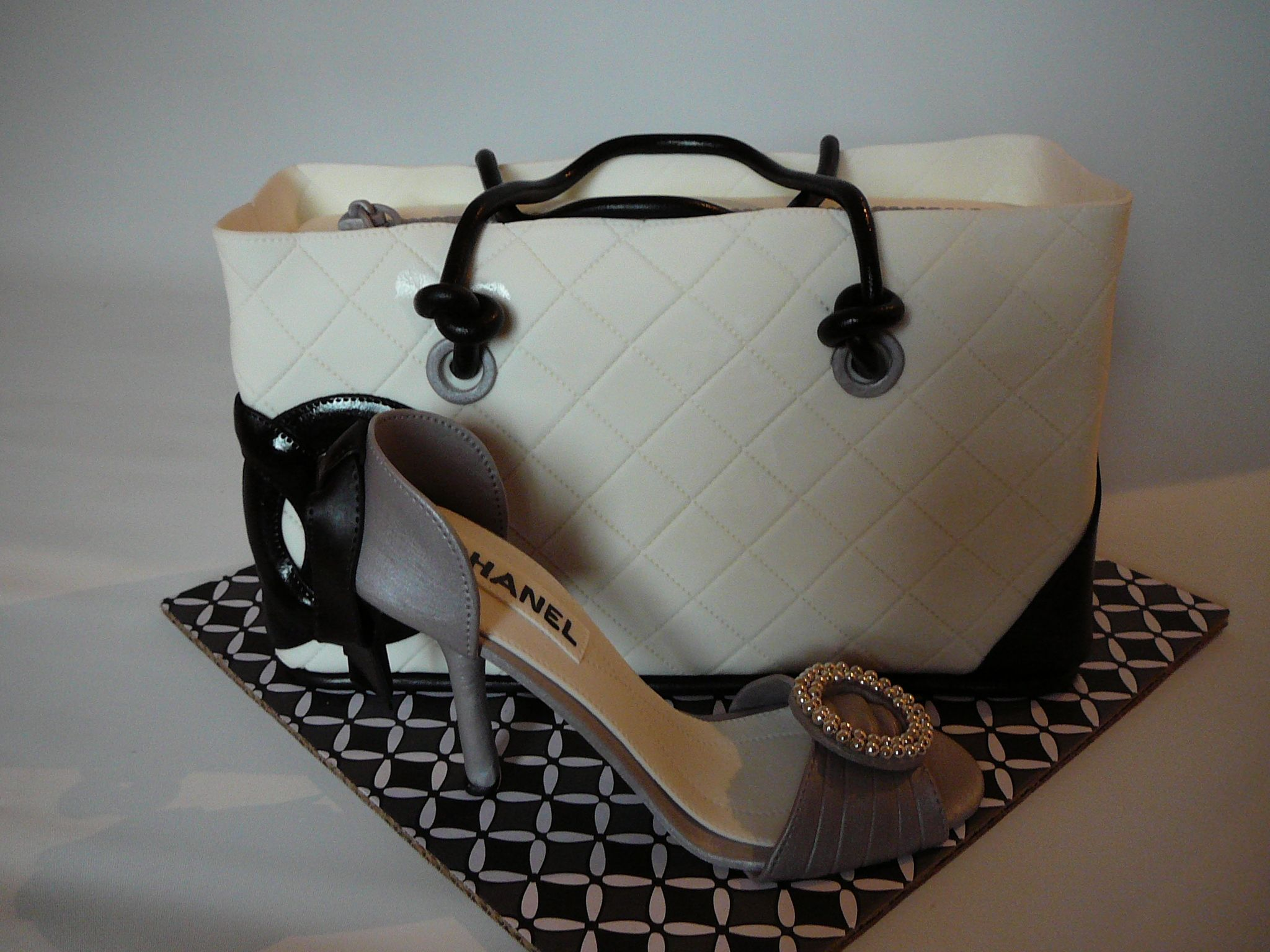 Silver Chanel high heel shoe - A shoe I made to match a Chanel purse ...