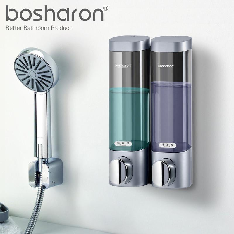 Liquid Soap Dispenser Wall Mounted 300ml Plastic Shower Gel