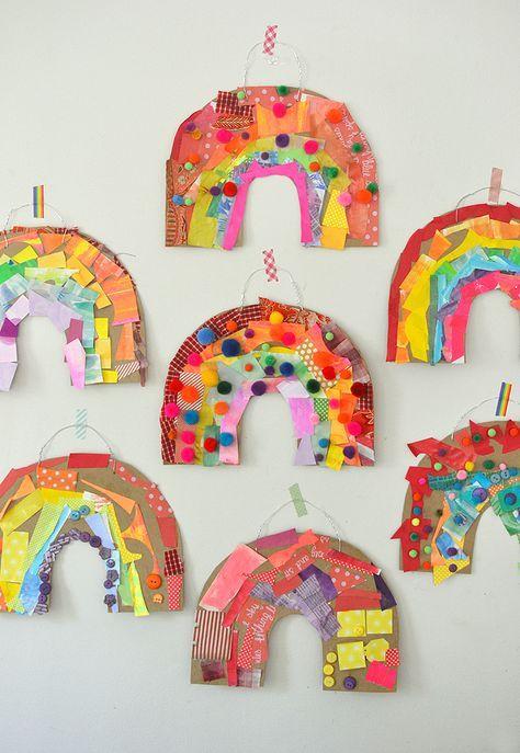 Photo of Cardboard Rainbow Collage