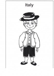 Free Multicultural Resources Italy Colouring Page