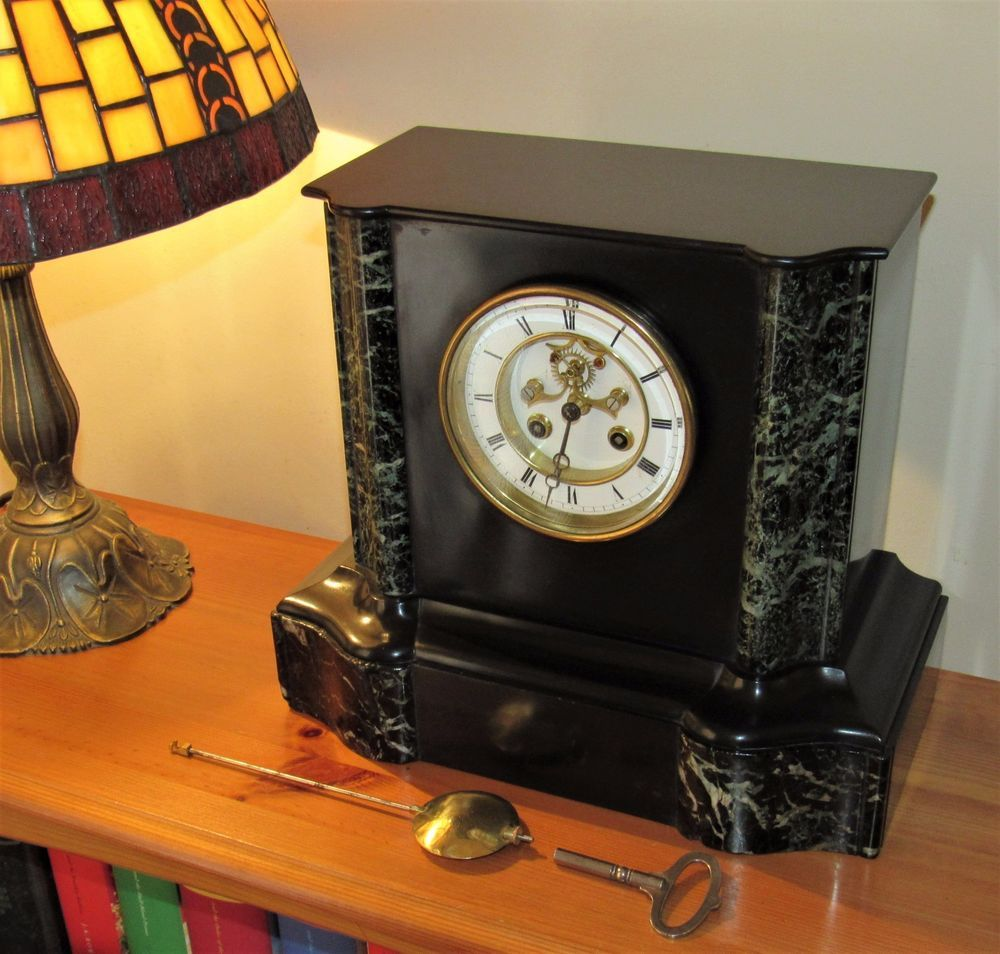 Superb Samuel Marti 19th Century 8 Day French 'Visible Escapement' Mantle Clock.