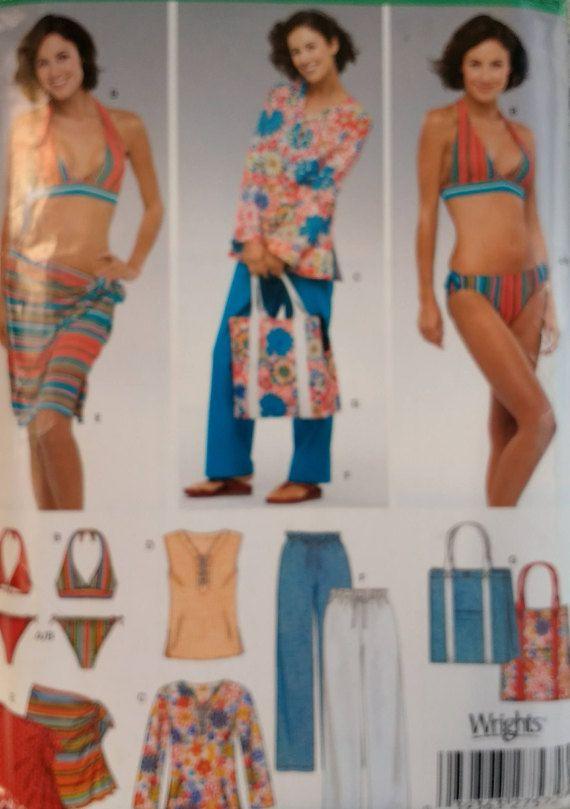 53db21f35b Newlook 6357 Misses Beach Wardrobe Misses Swimsuit Pattern | Misses ...
