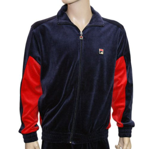 4f6aa61b2ec Velour Men Sweat Suits Jordan | Fila velour men's sweatsuit peacoat/chred  (lm101594-410)